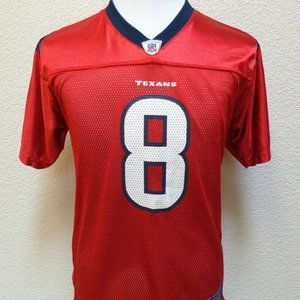 TEXANS # 8 RED JERSEY SZ YOUTH XL (18-20)